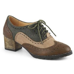 "Shoes - 2"" Heel Spectator Wingtip Oxford Saddle Shoes"